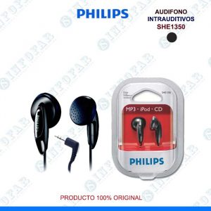 AUDIFONO PHILIPS SHE1350 NEGRO