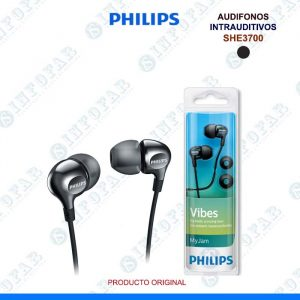 AUDIFONOS PHILIPS SHE3700BK NEGRO
