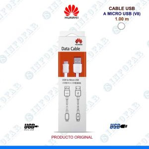 CABLE USB A MICROUSB HUAWEI 1.0MT BLANCO