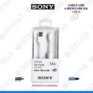 CABLE USB A MICROUSB SONY 1.5MT BLANCO