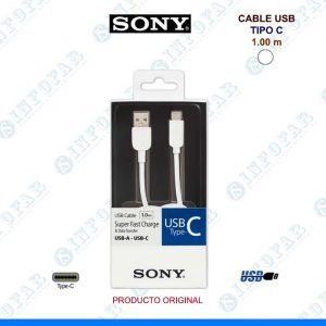 CABLE USB TIPO C SONY 1MT BLANCO