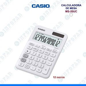 CALCULADORA CASIO MS-20UC-WE