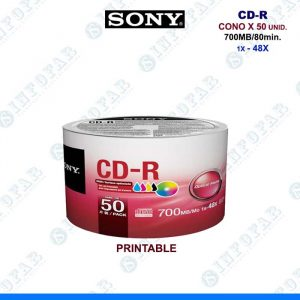 CD SONY PRINTABLE CONO X 50 UNID