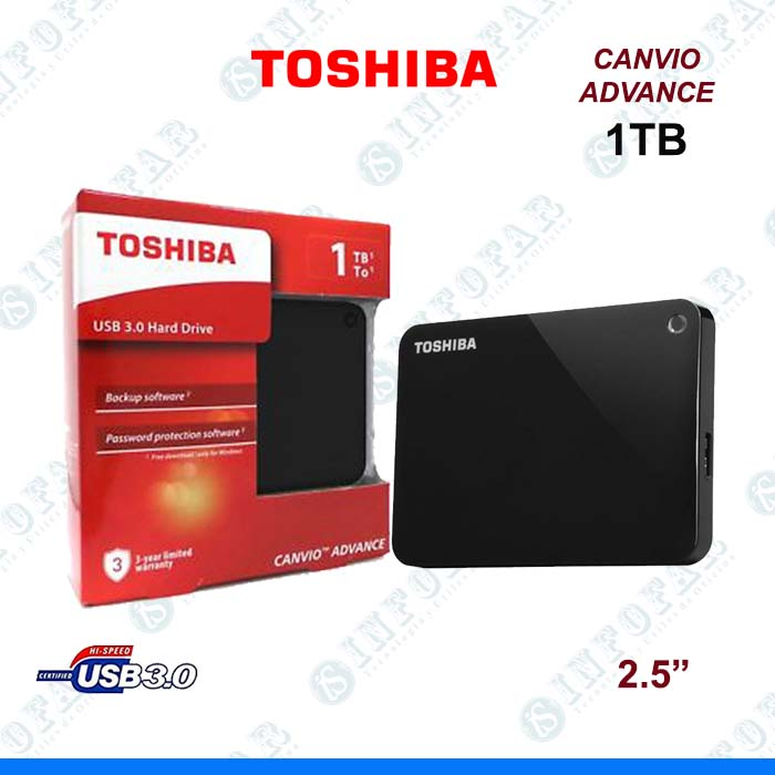 DISCO EXTERNO TOSHIBA ADVANCE 1TB