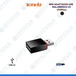 MINI ADAPTADOR USB TENDA INALAMBRICO 300MB