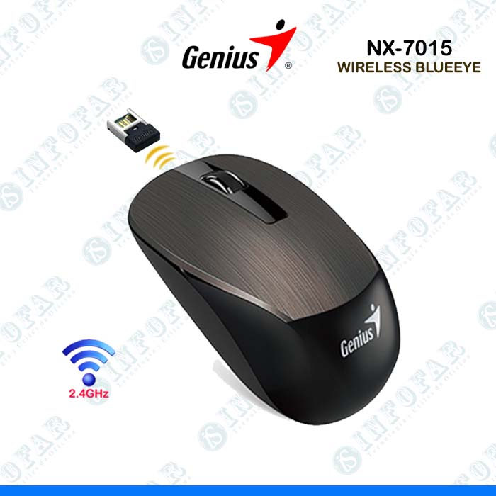 MOUSE GENIUS NX-7015 - CHOCOLATE - INFOFAR SYSTEM