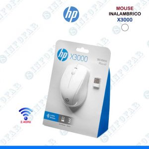 MOUSE HP INALAMBRICO X3000 BLANCO