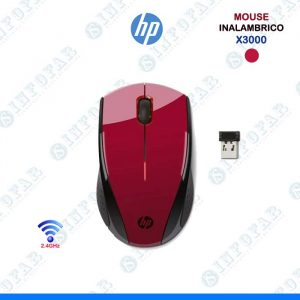 MOUSE HP INALAMBRICO X3000 - ROJO