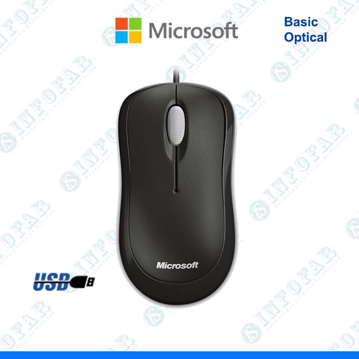 MOUSE MICROSOFT BASIC OPTICAL NEGRO - II - INFOFAR SYSTEM