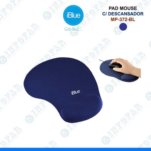 PAD MOUSE CON DESCANSADOR IBLUE - AZUL