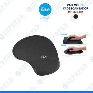 PAD MOUSE CON DESCANSADOR IBLUE - NEGRO