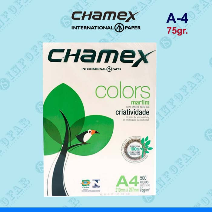 PAPEL FOTOCOPIA COLOR CHAMEX A4 - 75GR