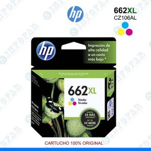 TINTA ORIGINAL HP 662XL TRICOLOR