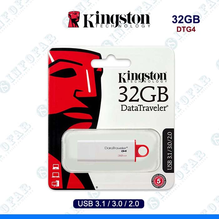 USB 32GB KINGSTON DTG4 BLANCO