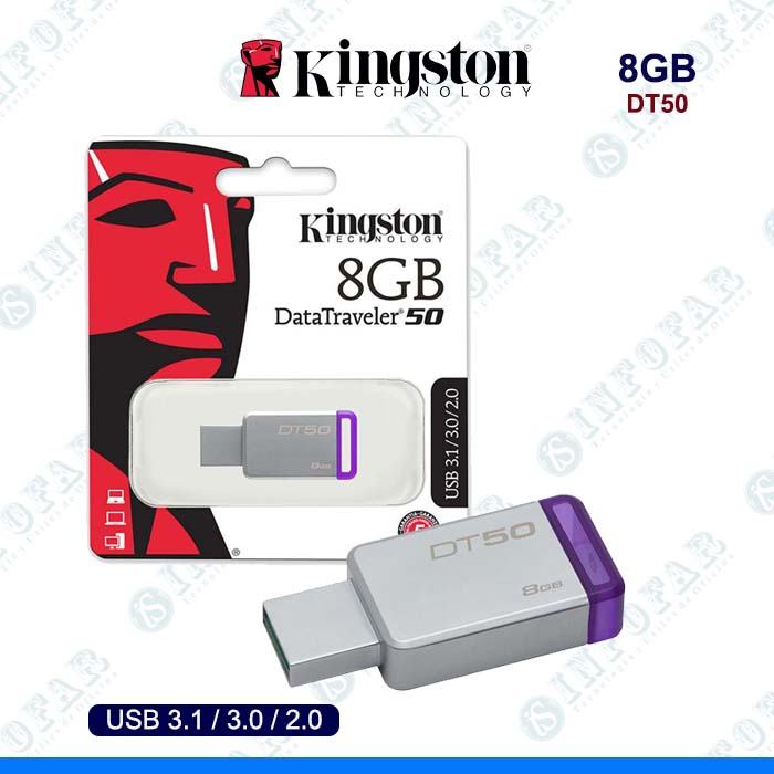 USB 8GB KINGSTON DT50 METAL