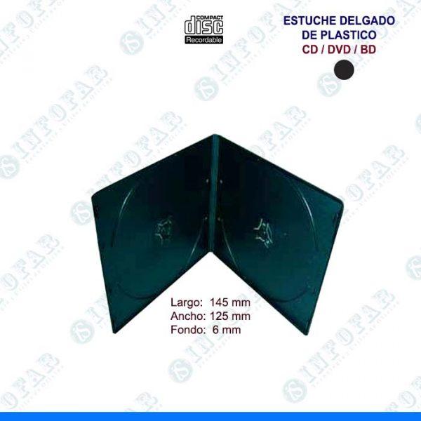 ESTUCHE DE PLASTICO DELGADO NEGRO - 1 CD