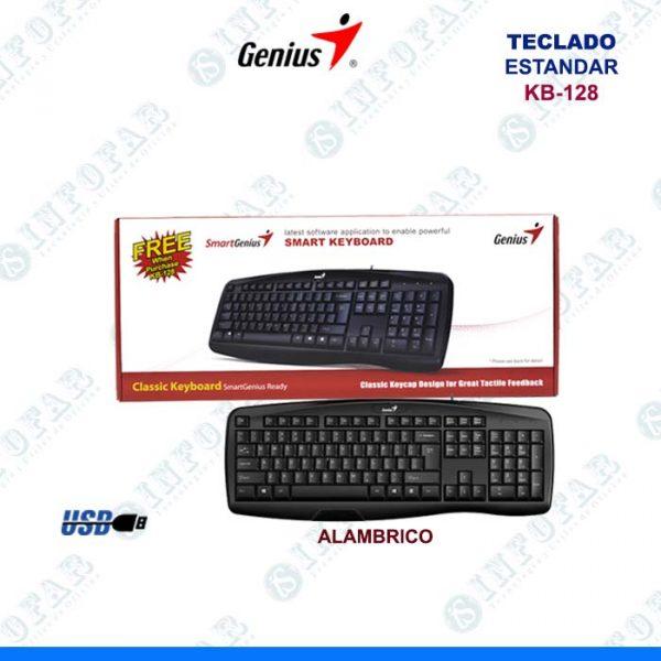 TECLADO ESTANDAR GENIUS KB-128