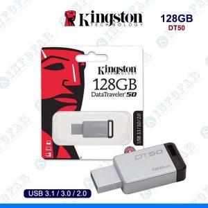 USB 128GB KINGSTON DT50 METAL NEGRO